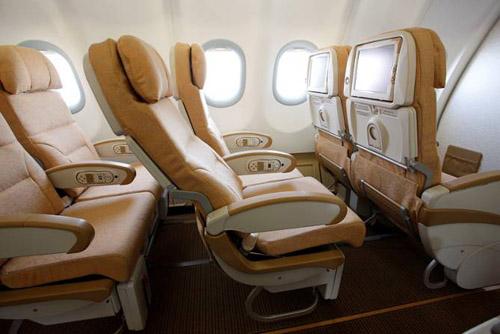 Салон самолета Etihad