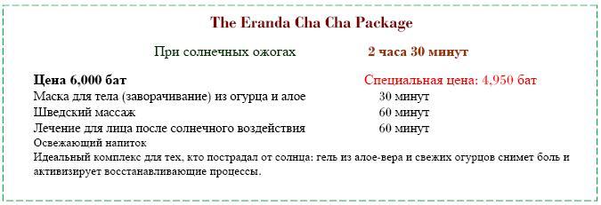 Eranda Herbal Spa программа